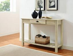 WE Furniture AZF48CYETNT Country Style Entry Console Table,