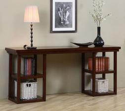 Walnut Cherry Ladder Console Table. The ladder console table