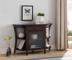 Walnut Wood Entryway Console Sofa Buffet Table With Storage