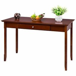 Wood Console Table Writing Desk with One Drawer Entryway Liv
