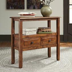 abbonto 2 drawer accent console table warm