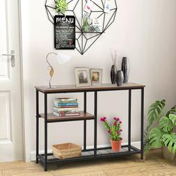 Accent Console Table Entryway Sofa Foyer Table With Storage
