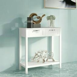 Accent Console Table Entryway Sofa Foyer Table Storage Shelf