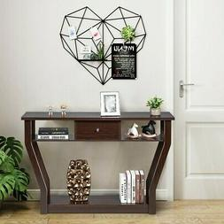Accent Console Table Modern Sofa Entryway Hallway Hall Home