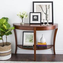 Accent Sofa Console Table Entryway Hall Round Furniture Shel