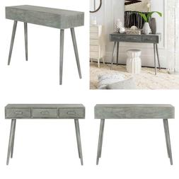 albus 3 drawer slate gray console table