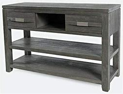 Jofran Altamonte Sofa Console Table, Brushed Grey
