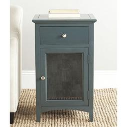 Safavieh American Homes Collection Ziva Steel Teal End Table
