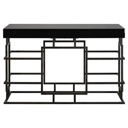 """Diva At Home 52"""" Andy Rusted Ebony Black and Beveled Black G"""