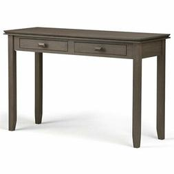 Simpli Home Artisan Solid Wood Console Sofa Table, Farmhouse