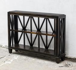 Uttermost Asadel Wood Console Table with Carved Moldings And