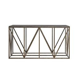 Universal Furniture Authenticity Truss Console Table in Khak
