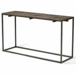 Simpli Home Avery Aged Elmwood Console Sofa Table, Distresse