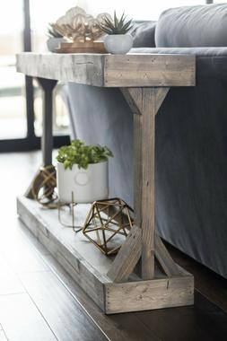 Barb Small Console Table Solid Wood by Del Hutson Designs, G