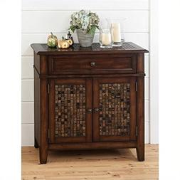 baroque brown accent cabinet