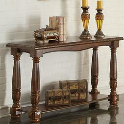 Baroque Hallway Entry Wood Rectangular Console Sofa Table Lo