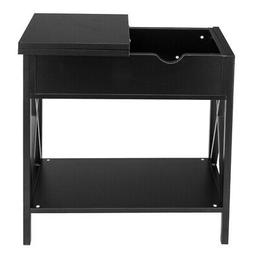 Black Console tables Flip Collection Top Table Hidden Storag