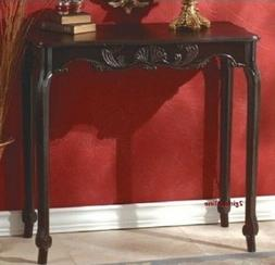 Black Entryway Table Console Behind Sofa Small Wood Furnitur