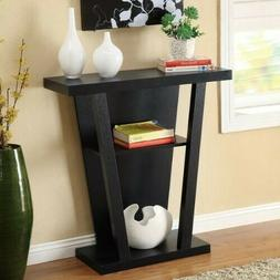 Black Entryway Table Console Furniture Living Room Modern Ac