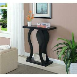 Convenience Concepts Black Newport Terry B Console Table