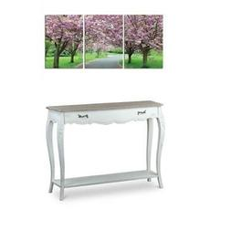 Baxton Studio Bourbonnais Console Table and Spring in Bloom
