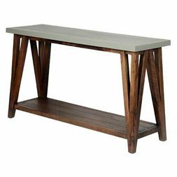 "Alaterre Furniture Brookside 52"" Wood with Concrete-Coating"