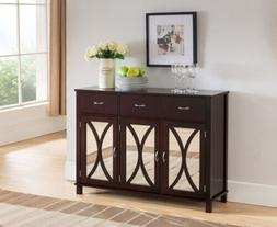 Kings Brand Furniture Buffet Server Cabinet / Console Table,