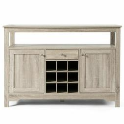 Buffet Server Sideboard Wine Cabinet Console Table Grey Home