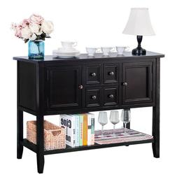 Buffet Sideboard Console Table with Bottom Shelf Table Cabin