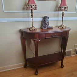 Butler Co. Ridgeland Cherrywood Demilune-Console Table-Inlay