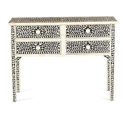 Butler Mother Of Pearl Tradinational Black Console Table Inl