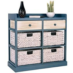BESTChoiceForYou Cabinet Table Storage Side Wood Drawers Con