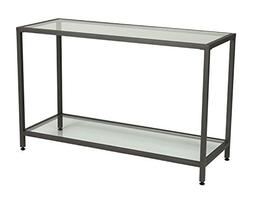 Offex Camber Collection Rectangle Clear Glass Console Table