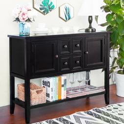 TREXM Cambridge Series Buffet Sideboard Console Table with B