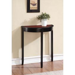 Camden Black Cherry Console Table Wood Stand Accent Decor En