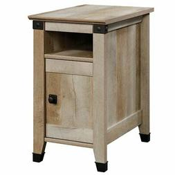 Cannery Bridge Side Table with Drawer and Open Shelf- Lintel