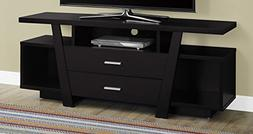Monarch Specialties I 2720 Cappuccino with 2 Storage Drawers