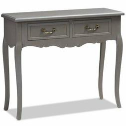 Baxton Studio Capucine Grey Finished Wood 2-Drawer Console T