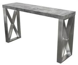 Diamond Sofa Carrera Console Table in 3D Marble Finish with