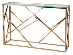 Cortesi Home CH-AT656214 Tavy Contemporary Glass Console Tab