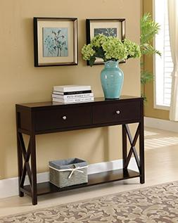 Kings Brand Cherry Finish Wood Entryway Console Sofa Occasio