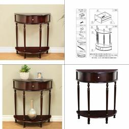 MegaHome Cherry Storage End Table Hall Entryway Bedroom Nigh
