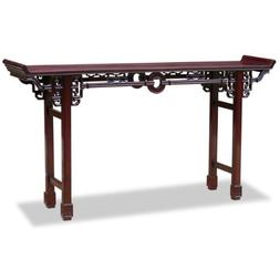 ChinaFurnitureOnline Rosewood Console Table, 72 Inches Coin