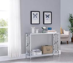 Chrome Sofa Table Furniture Console Modern Accent Entryway G