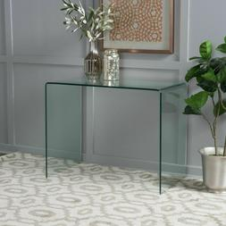 Great Deal Furniture Classon Tempered Glass Accent Table
