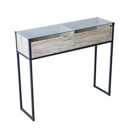Tilly Lin Clear Glass Top Accent Sofa Table Modern Console T