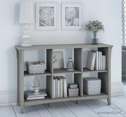 Coastal Gray Storage Console Table Cubby Bookcase Entry Hall