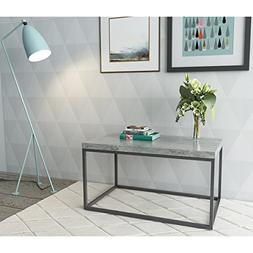 Roomfitters Faux Cement Coffee Table with metal frame box, F