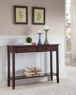 Kings Brand Furniture Console Entryway Table with 2 Drawers,