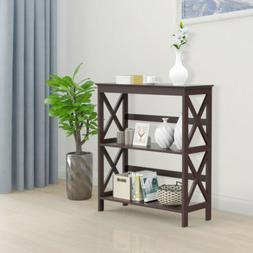 Console Side Table Bookcase Storage Shelf Rack Stand Display